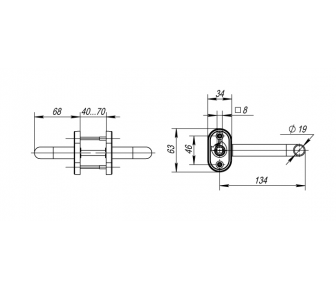 Ручка дверная INOX H-0903 (TH101W)