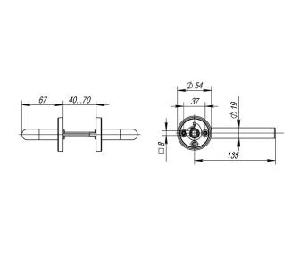 Ручка дверная INOX H-0201 (TH102)