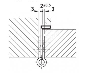 Петля дверная карточная INOX 102*76 mm