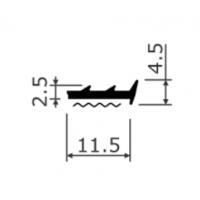 Уплотнитель на самоклеющейся основе 4302