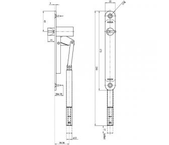 Автоматический шпингалет ASSA 2396 (FD108)