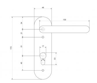 Ручки на планке HP-72.1303-INOX