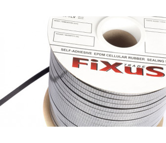 Прокладочная лента самоклеющаяся FiXuS EPDM 3*8 mm
