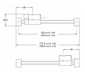 Межрамный механизм 148 и 310 mm