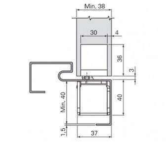 Дверная петля скрытая SFS W-Tec 3D+ 100