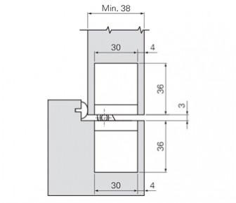 Дверная петля скрытая SFS W-Tec 3D+ 160