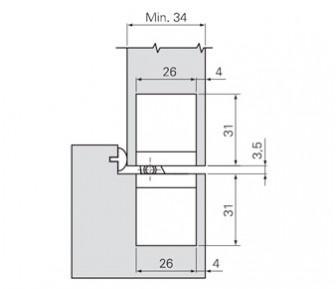 Дверная петля скрытая SFS W-Tec 3D+ 60