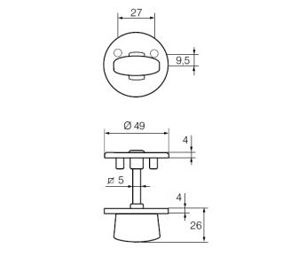 Покрывающий щиток LH001 WC