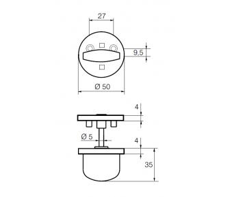 Поворотная кнопка LH007 WC
