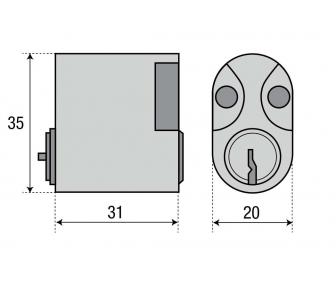 Цилиндр ASSA 1302 овальный