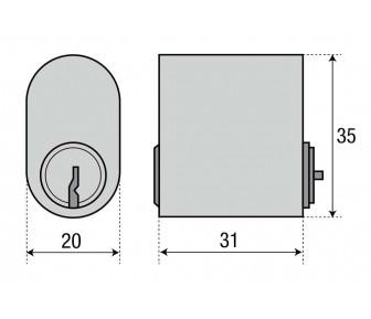 Цилиндр ASSA 1307 овальный