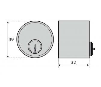 Цилиндр ASSA 1312 круглый двухсторонний