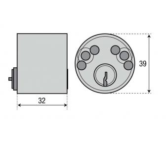 Цилиндр ASSA 1313 круглый