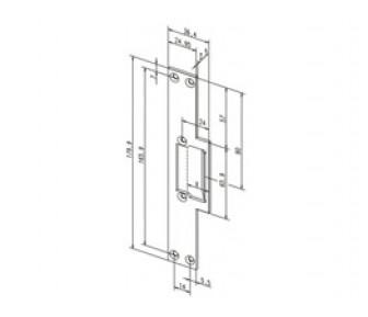 Плоская короткая запорная планка Effeff 169 с сохраняющей направление конструкцией и без ригеля