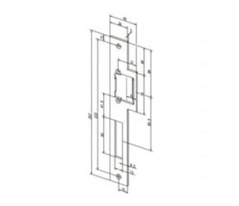 Плоская запорная планка Effeff 912 угловая с сохраняющей направление конструкцией