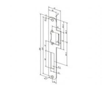 Плоская запорная планка Effeff 039 закруглённая с сохраняющей направление конструкцией