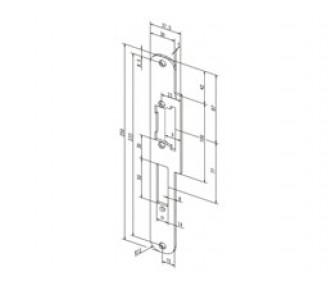 Плоская закруглённая запорная планка Effeff 534 ProFix 1