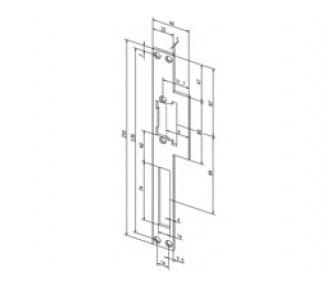 Плоская угловая запорная планка Effeff 521 ProFix 1