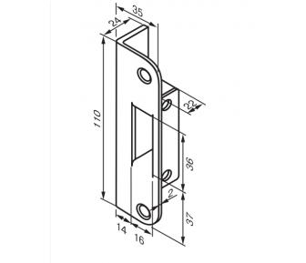 Ответная планка 4690 Fe/ZN