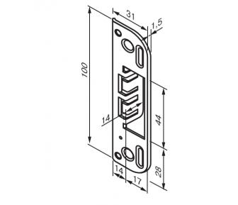 Ответная планка 0045 Fe/ZN