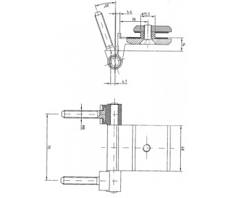 Петля для стеклянной двери FL – 48
