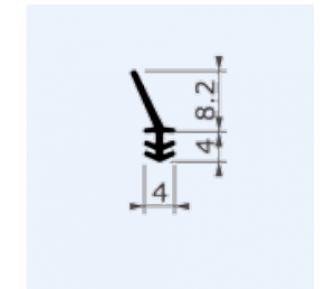 Дверной и оконный уплотнитель OT-KUMI 4974