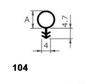 Уплотнитель для деревянныx окон и дверей 104