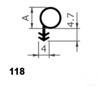 Уплотнитель для деревянныx окон и дверей 118/8