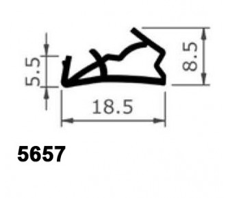 Уплотнитель для деревянныx окон и дверей 5657