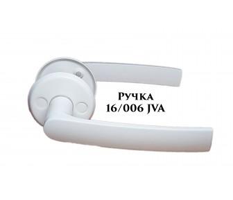 Ручка дверная 16/006 JVA Белая