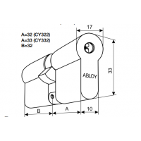 Цилиндр Abloy CY322
