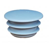 Заглушка пластиковая круглая D-14мм Серая