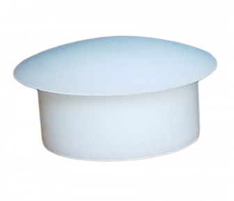 Заглушка пластиковая круглая D-19 мм белая