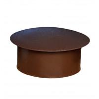 Заглушка пластиковая круглая D-19 мм коричневая