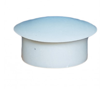 Заглушка пластиковая круглая D-19 мм Серая