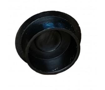 Заглушка пластиковая круглая D-19 мм чёрная