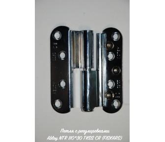 Петля с регулировками Abloy NTR 110*30 TKSS CR (FISKARS)