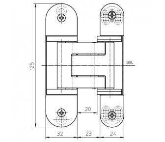 Скрытая петля Tectus TE 311 3D FVZ 40