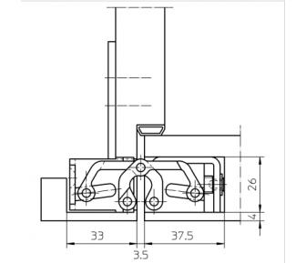 Скрытая петля Tectus TE 526 3D