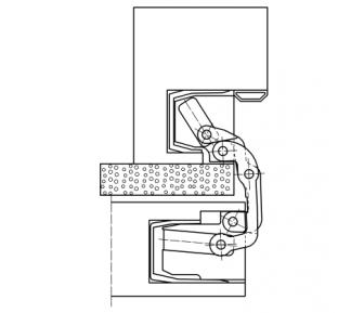 Дверная петля скрытая Simonswerk Tectus TE 541 3D FVZ