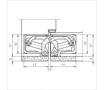 Дверная петля скрытая Simonswerk Tectus TE 640 3D A8