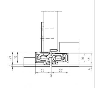 Дверная петля скрытая Simonswerk Tectus TE 240 3D