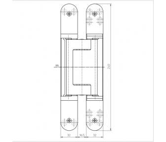 Дверная петля скрытая Simonswerk Tectus TE 640 3D