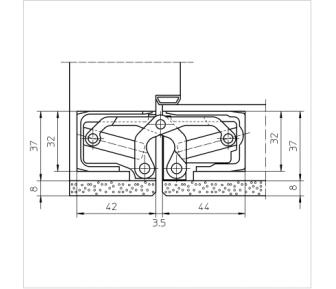 Дверная петля скрытая Simonswerk Tectus TE 540 3D A8
