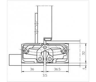 Дверная петля скрытая Simonswerk Tectus TE 540 3D