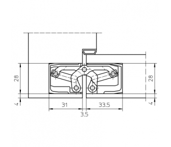 Дверная петля скрытая Simonswerk Tectus TE 340 3D