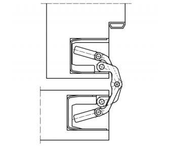 Скрытая петля Tectus TE 340 3D