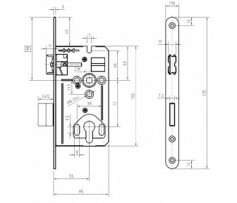 Замок KABA 170PZ DS235.20